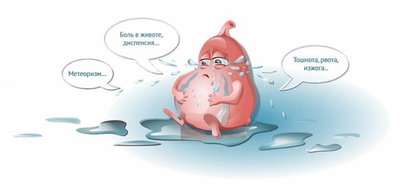 Тяжесть в желудка