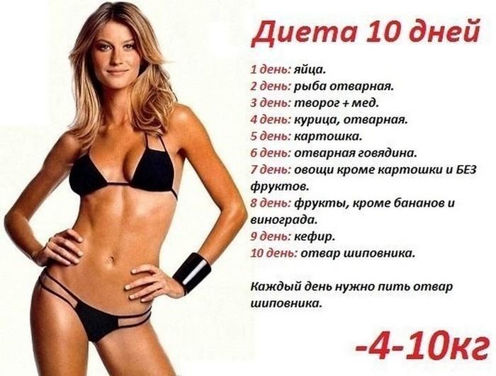 легкая диета для похудения на 10