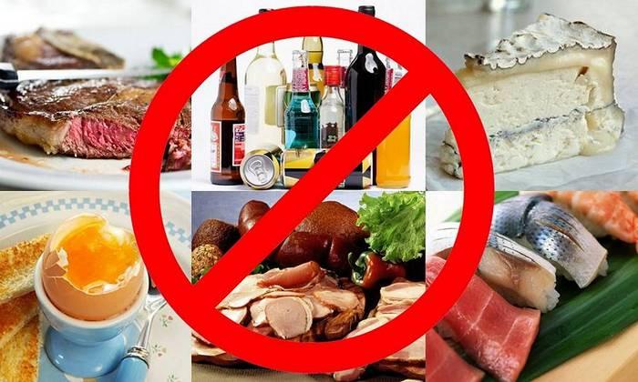 Запрещенный список продуктов при раке желудка