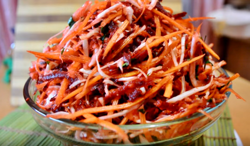 Салат-щетка с морковью